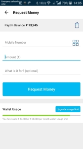 paytm request money