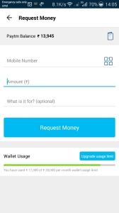 paytm request money