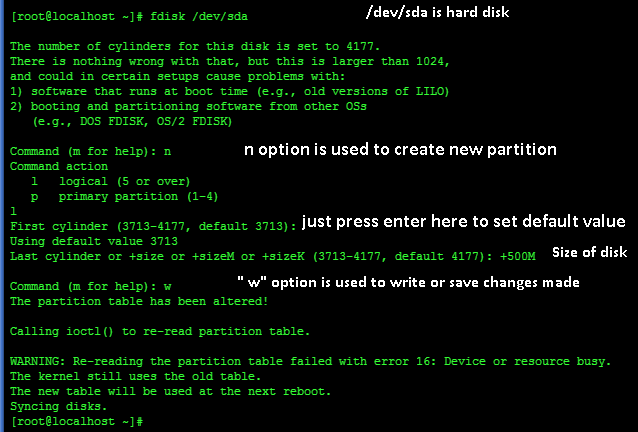 create partition in linux