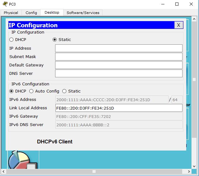 DHCPv6 client