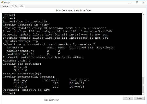 show ip protocols
