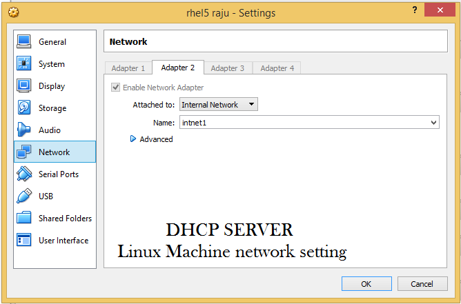 Linux server network setting