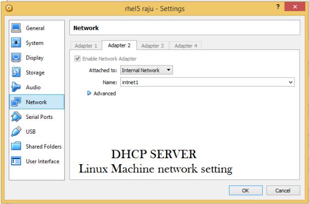 Linux server network setting