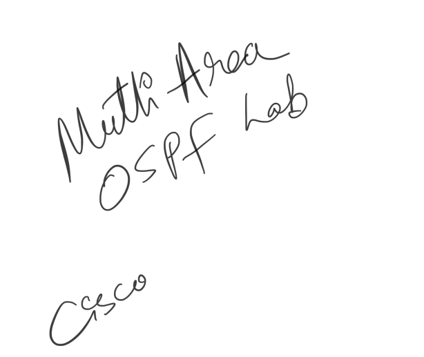 How to configure multi area ospf lab in cisco packet